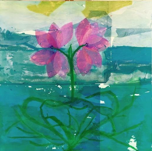 Water violet cm100x100